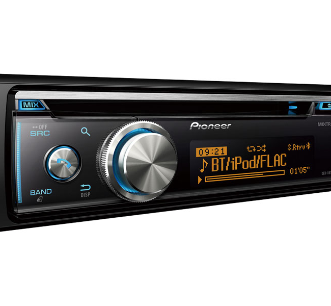 Pioneer dehx8700bt car stereo with bluetooth cd usb and auxin 1